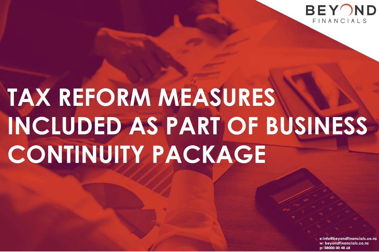 Tax Reform Measures Included As Part Of Business Continuity Package